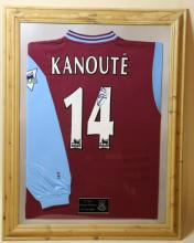 PAPE MOUSSA KANOUTE SIGNED FOOTBALL JERSEY