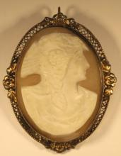 ANTIQUE GOLD MOUNTED CAMEO