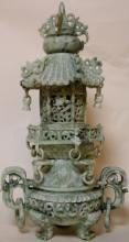 CHINESE ANTIQUE JADE TEMPLE