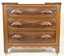 AMERICAN VICTORIAN  MARBLE TOP COTTAGE CHEST