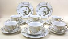 CHINESE DRAGON PORCELAIN GROUPING