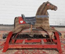 ANTIQUE STEIFF STYLE CHILDS RIDING HORSE
