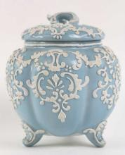 NIPPON 3-FOOTED MORIAGE BISCUIT JAR