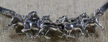 STERLING EQUESTRIAN RACING NECKLACE