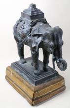 MAITLAND SMITH BRONZE ELEPHANT LAMP BASE