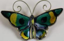 DAVID ANDERSEN NORWAY STERLING BUTTERFLY PIN