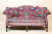 VIINTAGE CHIPPENDALE CAMEL BACK LOVE SEAT