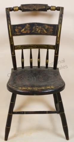 ANTIQUE AMERICAN STENCIL HITCHCOCK SIDE CHAIR