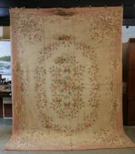 AMERICAN ROOM SIZE ANTIQUE  HOOK RUG