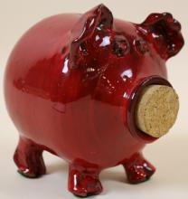OWEN RED POTTERY PIG BANK