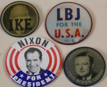 PRESIDENTIAL VINTAGE ELECTION PINS