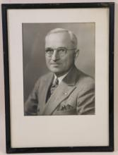 HARRY S. TRUMAN INSCRIBED AND SIGNED PHOTOGRAPH