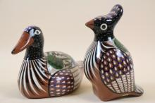 SPANISH POTTERY ANIMAL LOT OF 2