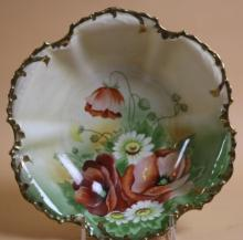 ROYAL MUNICH HAND PAINTED FLORAL BOWL