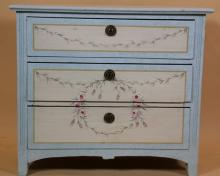 STENCIL PAINT DECORATED CHEST