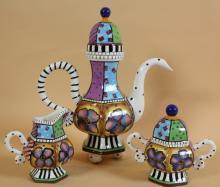 PROSPERO CERAMIC ART POTTERY TEA SERVICE