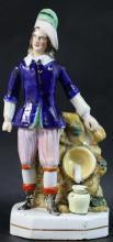 STAFFORDSHIRE FIGURINE BOY IN BLUE