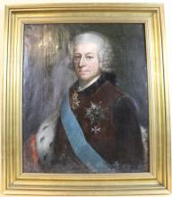 18TH C. GERMAN PORTRAIT OF A GENTLEMAN IN UNIFORM