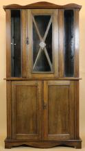 AMERICAN ARTS & CRAFT CABINET INLAID W/AGATE