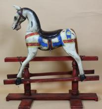 ROMA  VINTAGE  CHILD'S ROCKING HORSE