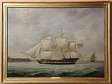 ROBERT DODD (1748-1815) OIL ON CANVAS