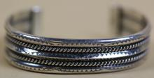 NAVAJO STERLING SILVER CUFF SIGNED