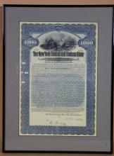 THE NEW YORK & HUDSON RIVER RAILWAY STOCK NOTE