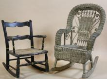 CHILD'S AMERICAN ROCKING CHAIRS (TWO CHAIRS)
