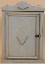 PAINT DECORATED SINGLE DOOR HANGING CABINET