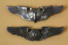MILITARY STERLING WINGED PINS