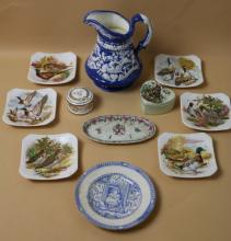 ENGLISH LOT OF PORCELAINS INCL. ROYAL ADDERLEY