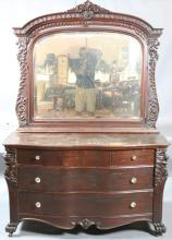 VICTORIAN MIRRORED DRESSER ATTR. TO HORNER