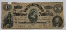 RICHMOND VA  ANTIQUE CONFEDERATE $100 NOTE