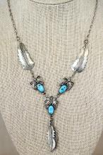 STERLING/TURQUOISE ORIG. NATIVE AMER. NECKLACE