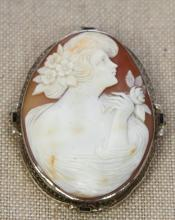 14KTWG CAMEO HAND CARVED