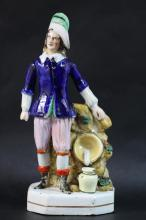 STAFFORDSHIRE FIGURINE BOY IN BLUE