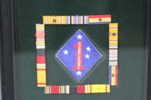 FRAMED WWII RIBBONS