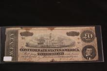 CONFEDRATE STATES OF AMERICA TWENTY DOLLAR NOTE