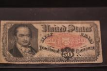 US FIFTY CENTS FRACTIONAL CURRENCY NOTE