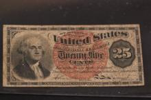 US TWENTY FIVE CENTS FRACTIONAL NOTE