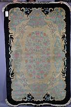 CHINESE SHANGHAI ANTIQUE HANDWOVEN CARPET 5X8