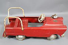 ANTIQUE PEDAL CAR FIRE TRUCK