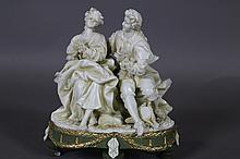 FRENCH BISQUE PORCELAIN FIGURAL GROUP