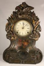 ANTIQUE IRONSIDE VICTORIAN CLOCK
