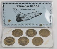 NASA COLUMBIA COMMEMORATIVE BRONZE COINS