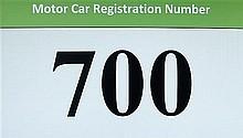 Motor Car Registration Number 700