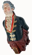 A FINE FIGUREHEAD OF THE PRUSSIAN BRIG GEORGE FORSTER