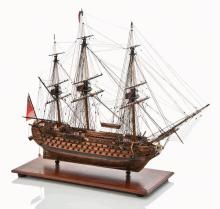 EARLY 19TH-CENTURY NAPOLEONIC MODEL FOR THE 90-GUN SECOND RATE SHIP OF THE LINE UNION