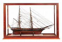 A FINE 1:48 SCALE MODEL FOR AN 8-GUN ARMED YACHT, CIRCA 1840  the 27in.