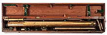 A 19TH-CENTURY 5IN. ASTRONOMICAL TELESCOPE BY CALLAGHAN & CO   in lacqu